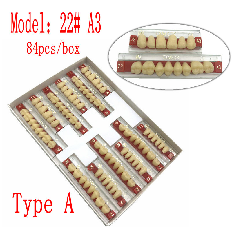 96pcs/84pcs Dental Denture Resin Teeth False Teeth Synthetic Polymer Fake Teeth