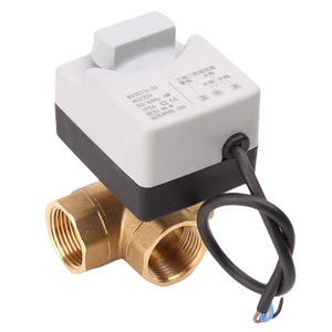 AC220V 3 Way 3 провода 2 управления моторизованный шаровой клапан электрический привод с ручным переключателем DN25