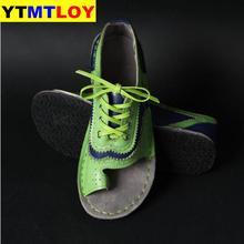 ¡Producto en oferta! Sandalias de verano para mujer, sandalias de mujer Roma, sandalias Retro Vintage con punta plana, zapatos informales