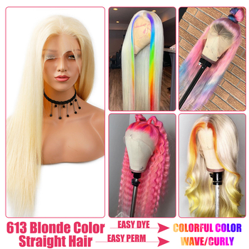 613 Blonde Lace Front Wig Brazilian Straight 13x4 Lace Front Human Hair Wigs Pre Plucked Baby Hair Remy Glueless 613 Lace Wigs 6