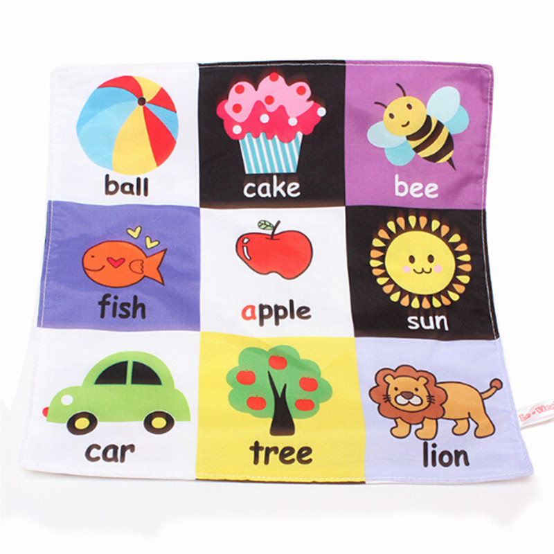 Cute Baby Kids Early Cloth Books Infant Newborn Baby Cartoon Activity Rattles Stroller Books Toys Learning Education Gifts