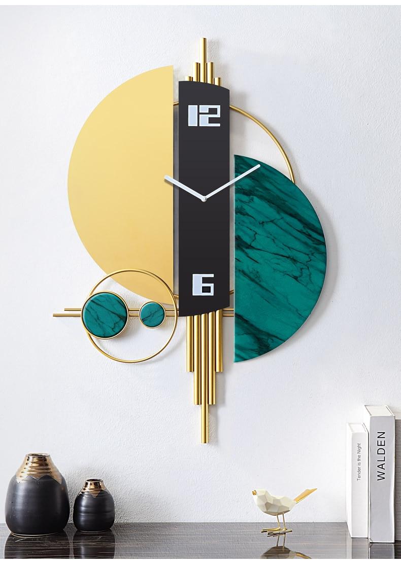 2020 New Oversized Modern Design Wall Clock For Living Room Corridor Large Metal Art Stickers Watch Home Decor Silent Merchanism Wall Clocks Aliexpress