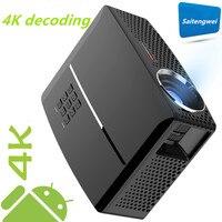 Gp80up 강도 안드로이드 6.0os 휴대용 led 프로젝터 듀얼 칩 mstar + amlogic 홈 영화관 시스템    -