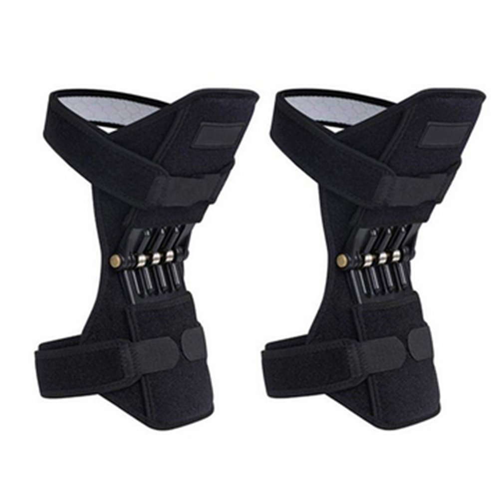1 Pair Joint Support Knee Pads Breathable Non-slip Power Lift Joint Support Knee Pads Powerful Rebound Spring Force Knee Booster