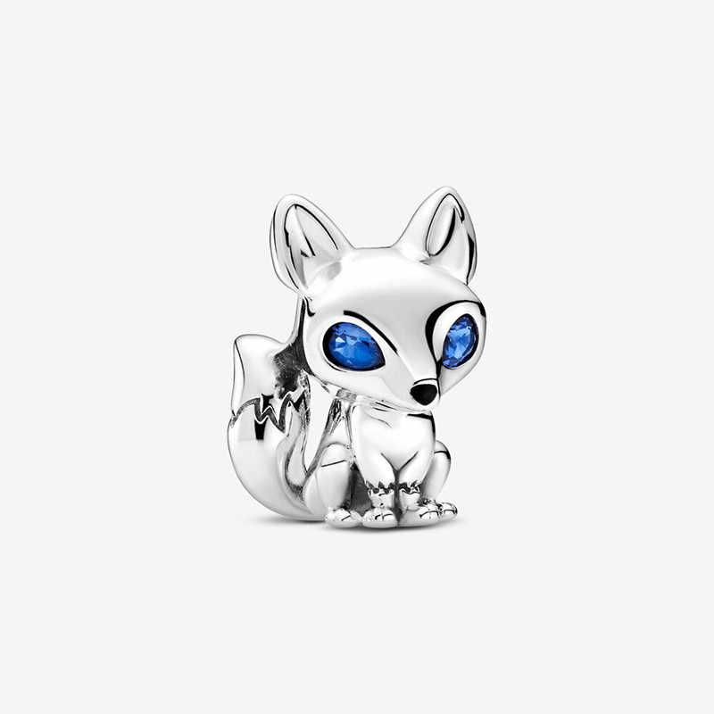 Hakiki 925 ayar gümüş tilki ve sincap Dangle göz alıcı boncuk Fit orijinal 3mm Charm bilezik takı hediye 2020 yeni