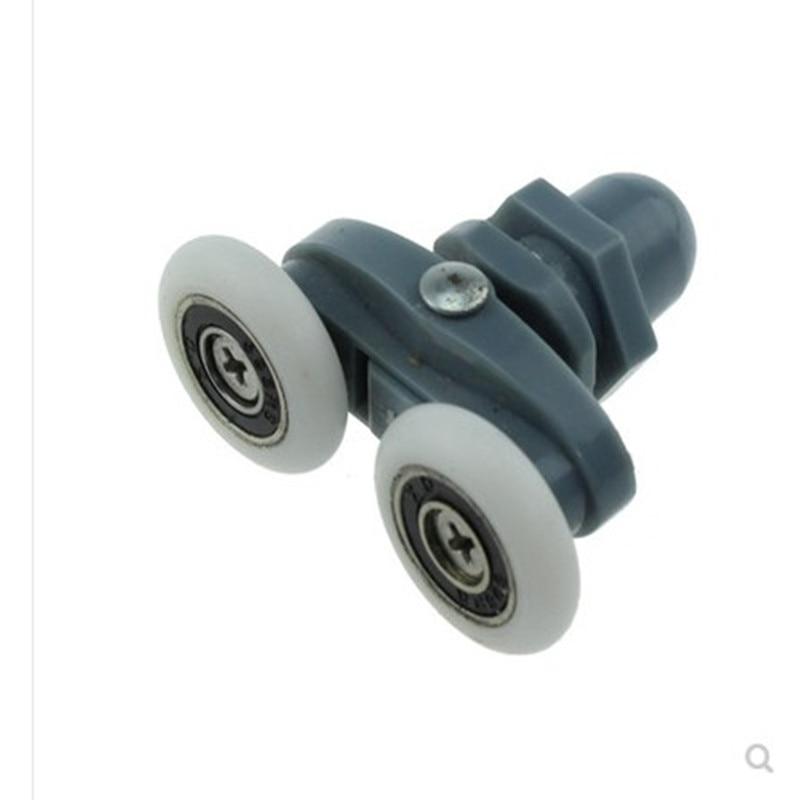 8 Double Twin Shower Door Rollers Wheels Runners Pulley Pulleys 19/20/23/25/26/27mm Wheels  Bathroom Door Runners Sliders Wheels