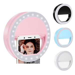2020 Universal Selfie Ring Light Clip On USB Rechargeable 36 LED Camera Phone Fill Light Whiten Beauty Slimming Photography Lamp