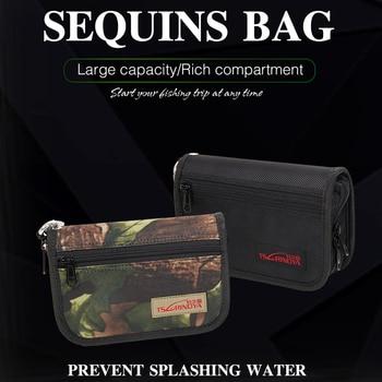 TSURINOYA-Bolsa de cucharas de Pesca, gran capacidad, impermeable, multifuncional, señuelo, aparejos de Pesca, 18,5x12,5x5,2 cm