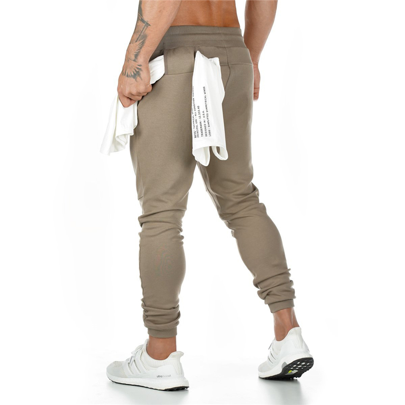 YEMEKE Mens Joggers Casual Pants Fitness Men Sportswear Fitness Bottoms Skinny Sweatpants Trousers Gyms Jogger Track Pants