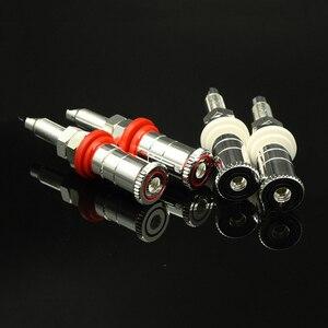 Image 5 - Colleimage Hifi audio 4 sztuk/zestaw srebrne miedziane głośnikowe oprawy głośnikowe złącza zaciskowe WBT style