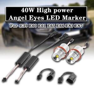 Image 5 - 1 para 40W samochodów LED migające oczy anioła Marker światło o dużej mocy lampy H8 żarówka do BMW E39 E60 E61 E65 E66 E83 E87 63126904048