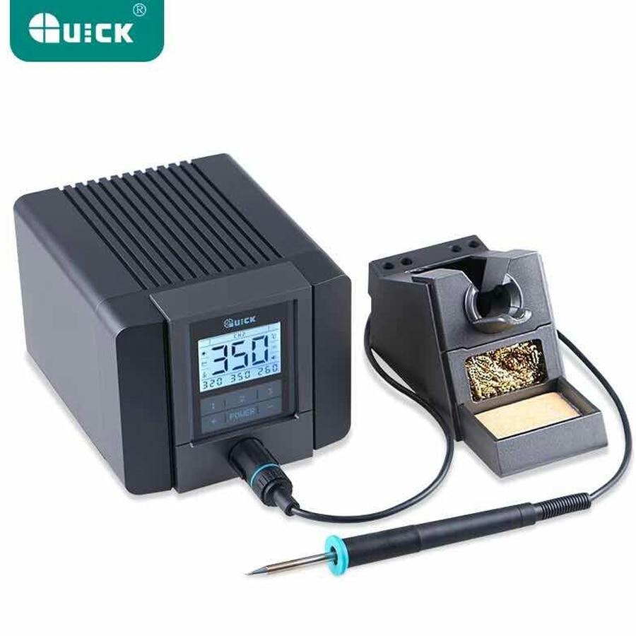 QUICK TS1200A Intelligent Hot Air Rework Station For Phone PCB Soldering Repair 220V EU Plug 1