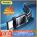 Essager кабель с разъемом USB Type-C для Samsung Xiaomi mi 3A быстрой зарядки USB-C кабель Мобильный телефон зарядное устройство USBC Type-C кабель AWG кабель 3 м