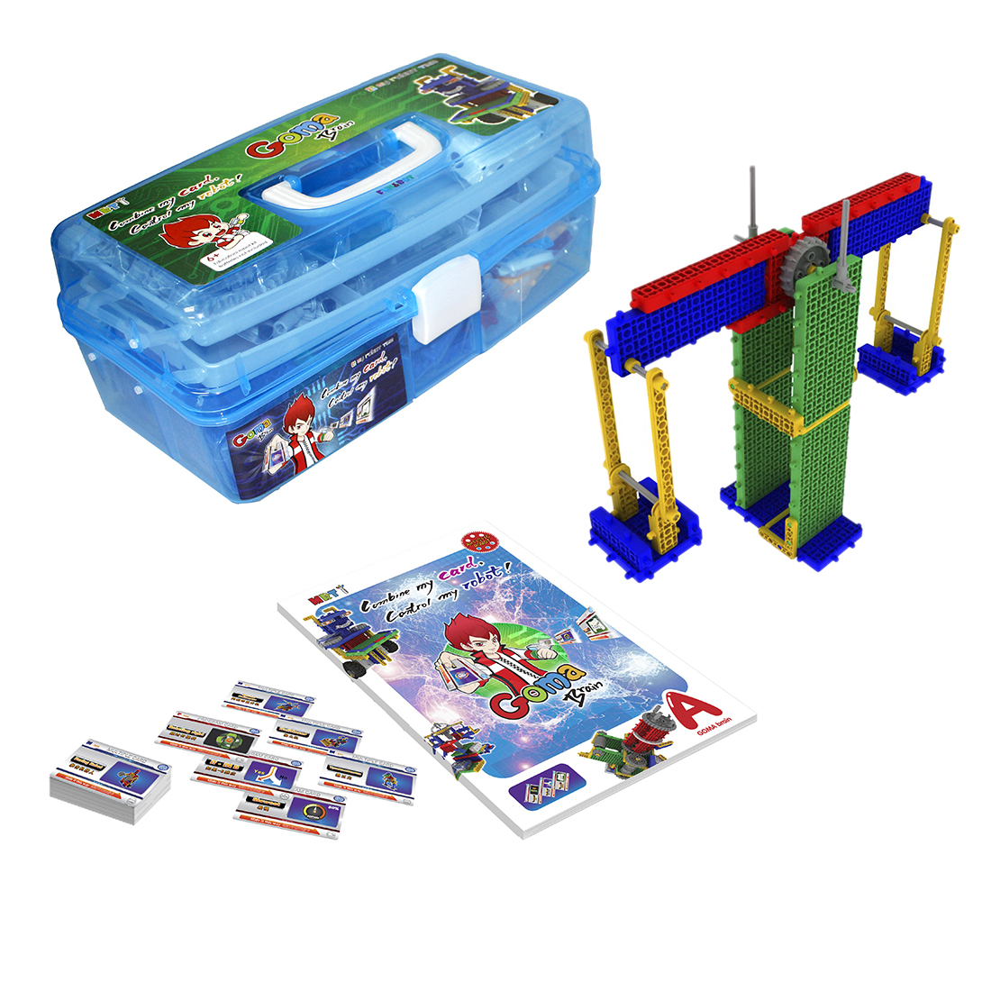 MRT 1-Brain A Colorful Robots Building Block Kit Assembly Educational Robot Toy For Beginner 6-8 Years Old Model Building Figure