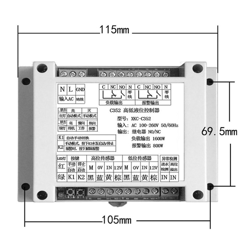 equipamento eletrico supplie nivel liquido detector inteligente 04