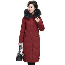 High quality Plus size XL-7XL Winter Down jacket Women 2019 X-long Coat Thicken Fur collar Hooded Oversize Outerwear Female G691(China)