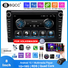 Rádio do carro 2 din k808 para volkswagen android 10.1 multimídia player 8