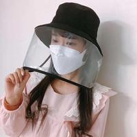 100pcs Anti virus Protective Cap Protective Hat Face Shield Protective Hat Outdoor Fisherman Hat Anti droplet Splash Proof Cap