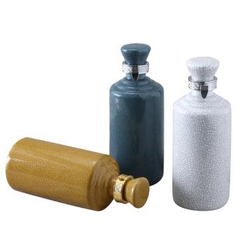 Klasyczna pęknięta ceramika Hip Flask spersonalizowane antyczne kolor glazura Hip Flask oddychająca Flasque Alcool przybory kuchenne EF50HF tanie i dobre opinie Mrs win CN (pochodzenie) ceramics single