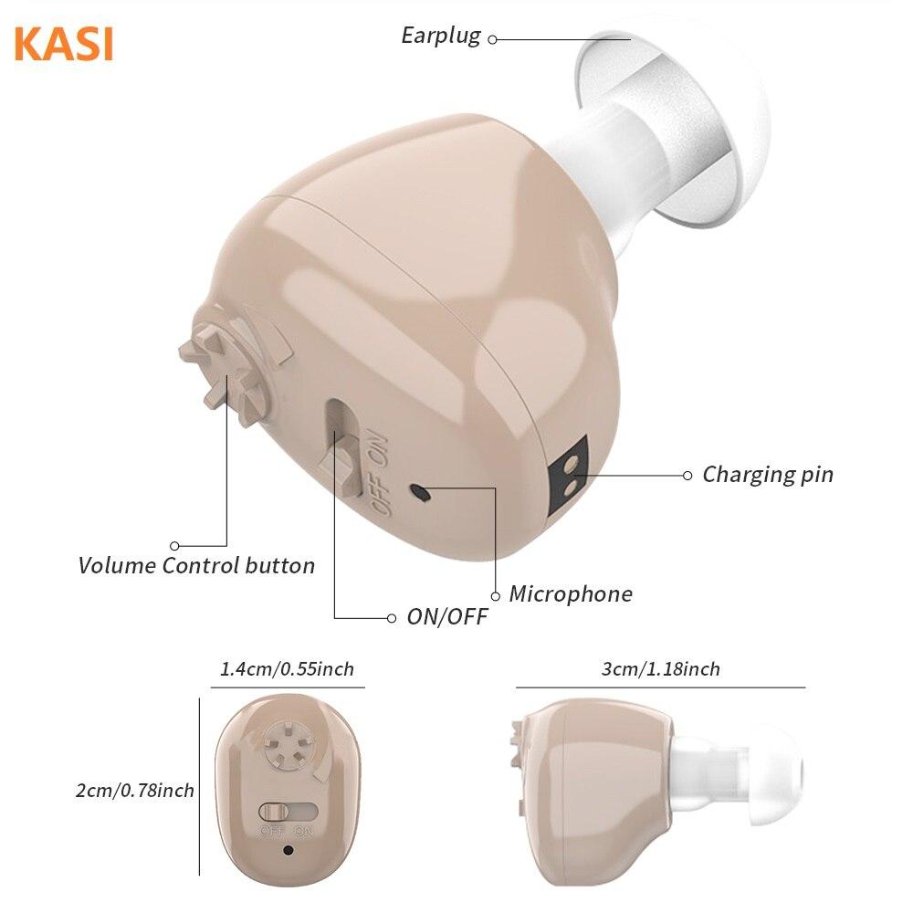 Aparelho Auditivo Recarregável - Amplificador Auditivo para deficientes auditivos 2