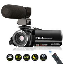 Câmera de vídeo filmadora com microfone, videosky fhd 1080p 15fps 24mp vlogging youtube câmeras 16x zoom digital filmadora webcam