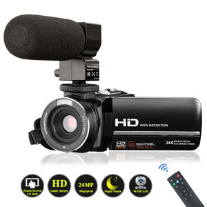 Video Camera Camcorder with Microphone VideoSky FHD 1080P 15FPS 24MP Vlogging YouTube Cameras 16X Digital Zoom Camcorder Webcam
