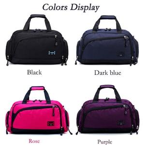 Image 3 - Gym Bags Men Sports Fitness Pack Cylinder One Shoulder Sport Bag Womens Handbags Travel Bags Nylon Waterproof Handbag Package