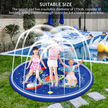 Sprinkler-Mat Pool Playing Round Outdoor Kids Inflatable Yard Water-Spray-Pad Swimming
