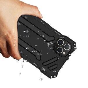 Image 4 - מתכת אלומיניום סגסוגת סיליקון שכבה כפולה מגן מקרה עבור iPhone 11 פרו כבד החובה טלפון מקרה עבור iPhone 11 פרו מקסימום כיסוי