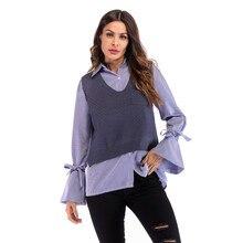 Autumn New Knit Vest Womens Sleeveless Sweater Split Fork Loose Jacket Women