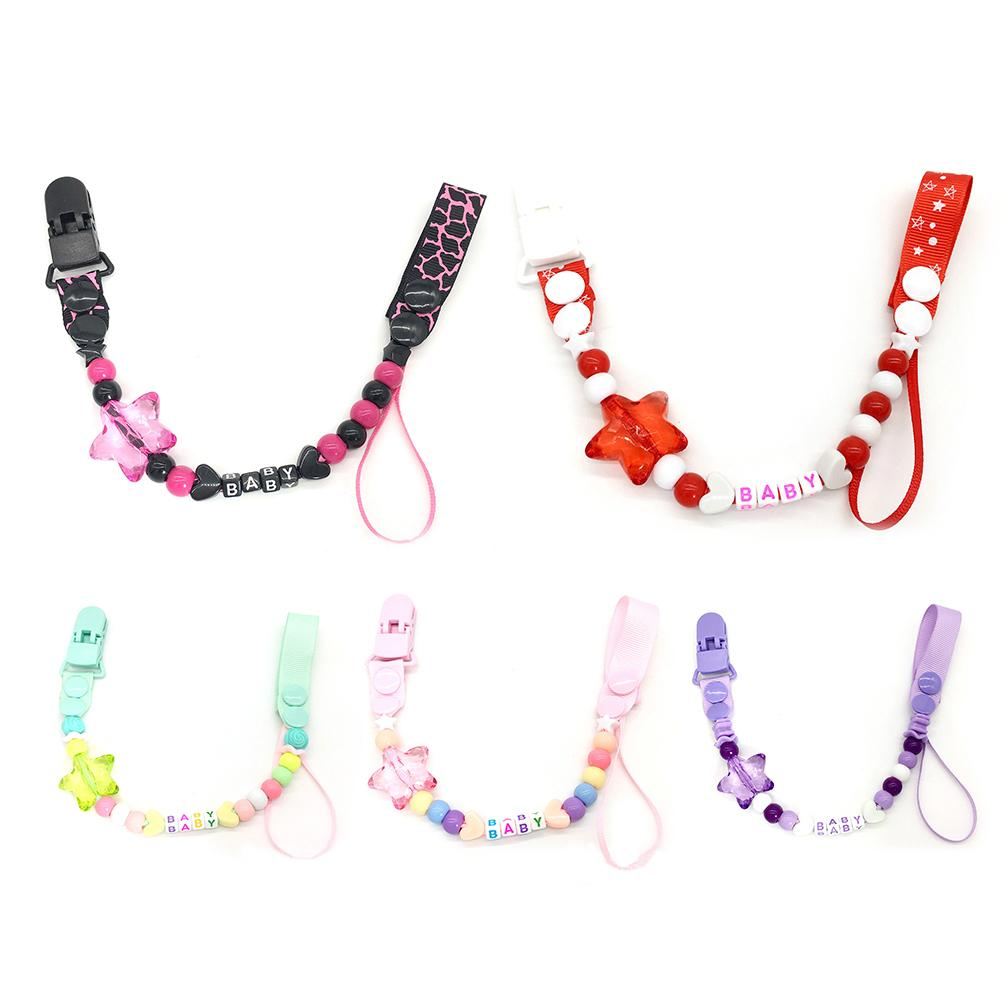 2019 Baby Care Universal Holder Leash For Pacifiers Nipples Clip Infant Child Soother Beaded Wooden Chains Teethers