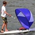 PVC Faltbare Kajak Wind segel Boot Wind Segel Paddle Board Segeln Kanu hub Rudern Boote Wind Klar Fenster 108*108cm