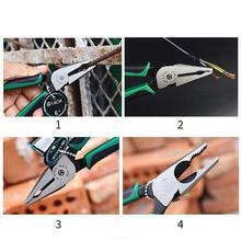 LAOA CR-MO Kombination Zange Lange Nase Zange Angeln Zangen Draht Cutter Stripping Amerikanischen Typ Werkzeuge Für Elektriker