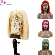 Kissmee 13*4 613 Blonde Bob Wig Human Hair Short Pink For Black Women Ombre Lace Front Ginger Brazilian Remy