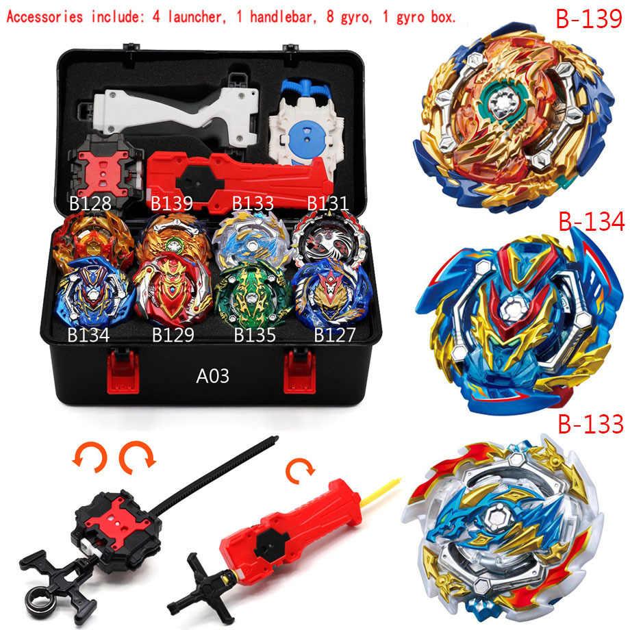 Topos lançadores beyblade burst b144 b139 b127 b122 arena brinquedos venda beyblades saint-imperador-dragão dreno fafnir phoenix blayblade