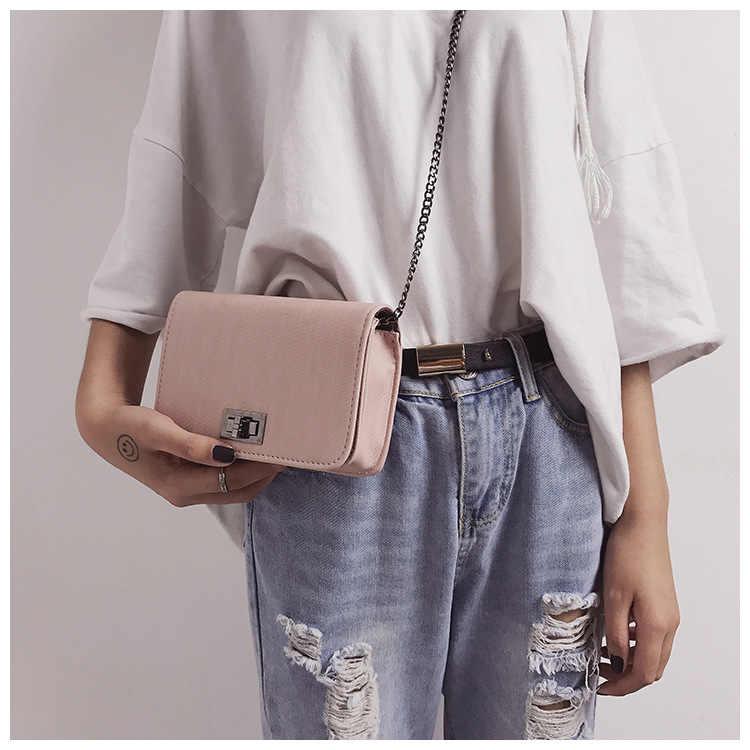 Miyahouse lujo Mini bolso de hombro para mujer moda femenina pequeña bolsa de solapa salvaje para chicas adolescentes diseño de cerrojo bolso de mensajero para damas