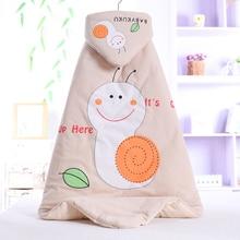 Baby Winter Blankets Newborn Cotton Blanket Cartoon Soft Quilt Thicken Silk Floss Toddler Swaddle Sleeping Bag 90*90cm