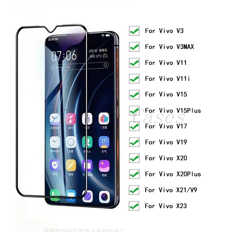 2 Pieces 9H Tempered Glass HD Protective Glass For <font><b>Vivo</b></font> V3 <font><b>V3Max</b></font> V9 V11 V11i V15 V17 V19 X20 X21 X23 Plus Screen Protector image