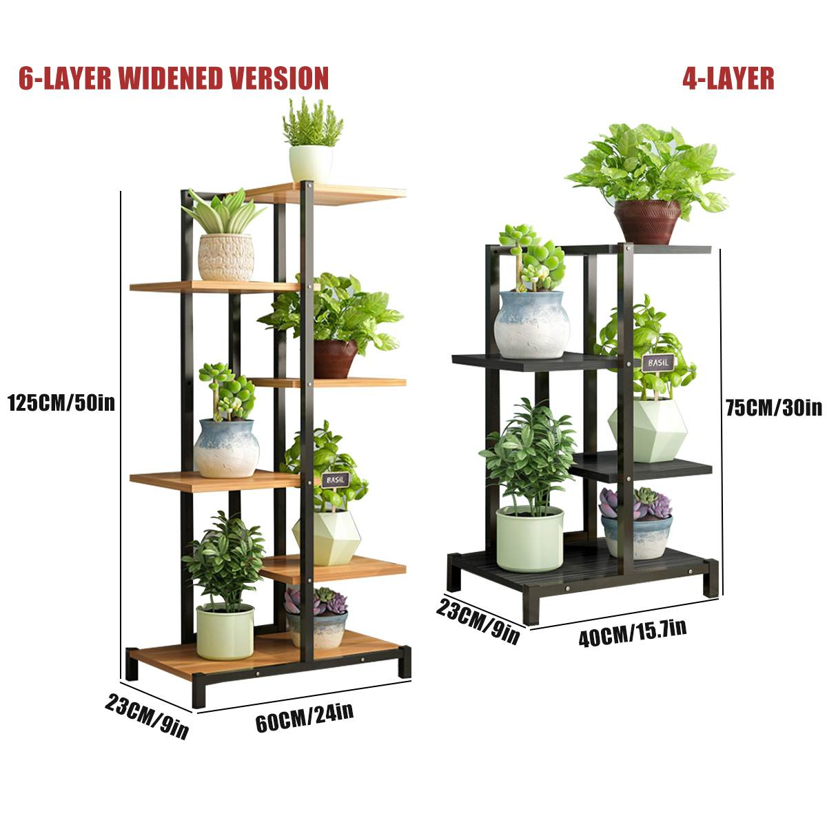 New Balcony Living Room Flower Stand Plant Shelves Interior Modern Decoration Floor Standing Multi-layer Flower Shelf Storage Fl