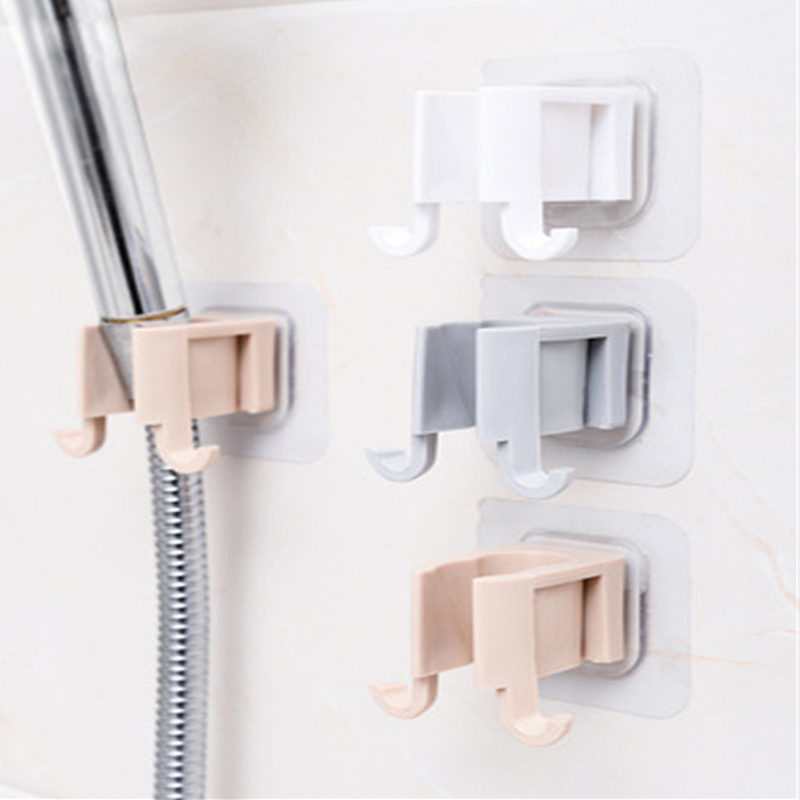 1Pcs Portable Shower Head Shelf Shower Head Rack Self Adhesive Plastic No Punch Shower Sprinkler Holder Bathroom Accessories