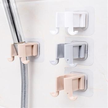 1Pcs Portable Shower Head Shelf Shower Head Rack Self Adhesive Plastic No Punch Shower Sprinkler Holder Bathroom Accessories