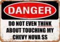12x8 металлический знак-Do Not Touch My chevy-новы СС-Винтаж декоративный жестяной знак Винтаж знаки