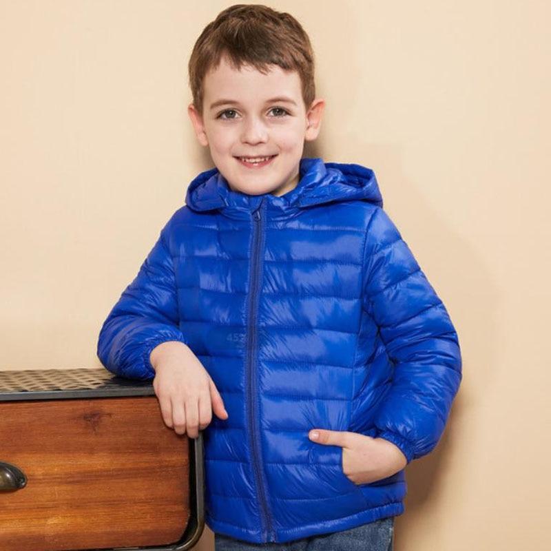 Детский пуховик на осень и зиму для девочек, теплые пуховые пальто для мальчиков и девочек, парки для маленьких девочек, верхняя одежда, одеж...