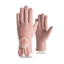 Autumn Winter Casual Fashion Women Gloves Cute Full Finger Touch Screen Cashmere Thermal Breathable Ski Snowboard