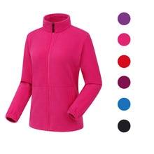 Nance dino – veste en polaire pour femme, vêtement chaud, couleur unie, col montant, fermeture éclair, pour couple, randonnée, Camping, cyclisme