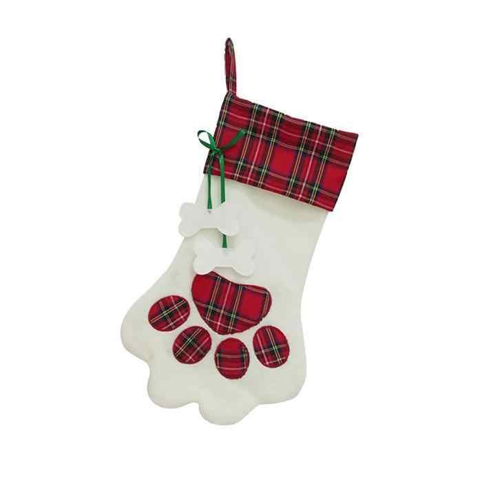 Собачья лапа рождественские украшения для чулок поставки дома, гостиницы, украшение для торгового центра. Орнаменты для рождественой елки