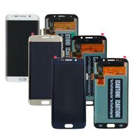 Para samsung galaxy s6 borda lcd g925 g925f SM G925F tela de toque digitador assembléia para samsung s6 borda lcd LCDs de celular    -