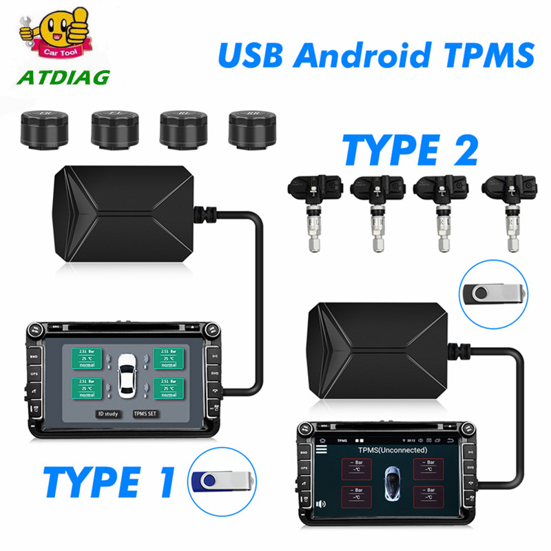 Usb-Tire-Alarm Temperature-Alarm-Inner Auto-Tire-Pressure-Monitoring-System Android External/inner-Sensors