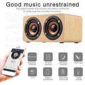 Portable Wood Speaker Powerful Wireless Speaker High Performance Mini 3D Dual Loudspeakers USB Charging
