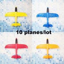 Espuma mão jogando aviões brinquedo 37cm 48cm modo de vôo planador inertia aviões modelo aviões para crianças esporte ao ar livre